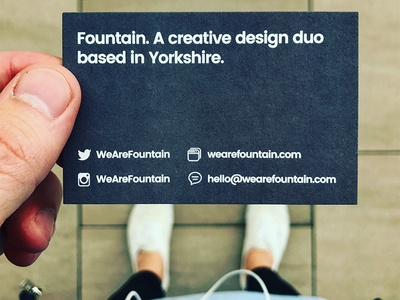 Fountain Business Card