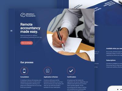 Whitethorn Accountants Homepage Screenshot