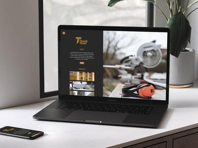 The Trade Team Homepage Screenshot