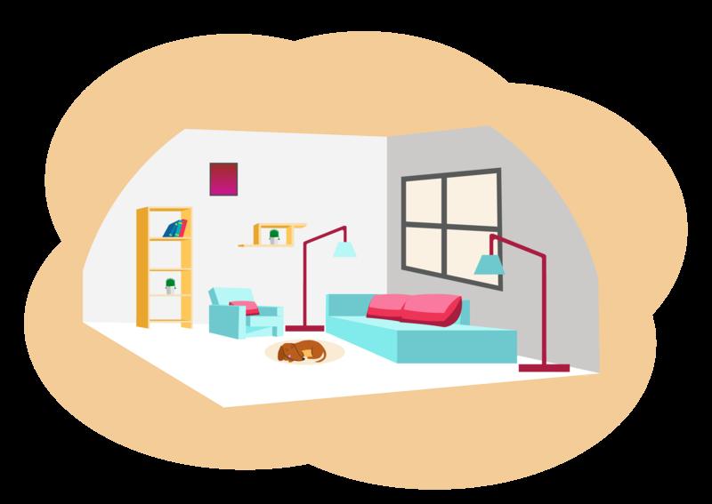 Illustration designed for Mi Casa app visual deisgn interior design vector illustration ui