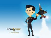 Soloturk Pilot Yzb. Yusuf Kurt character design