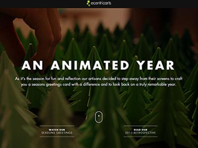 ecentricarts Season's Greetings Website holiday seasons greetings ecard trees stop motion