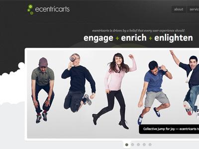 ecentricarts responsive new website responsive responsive design website