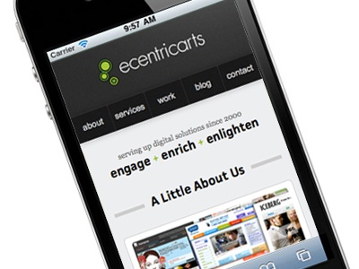 ecentricarts responsive new website (mobile) responsive responsive design website mobile