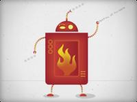 Robot destroy hu-mans