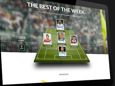 The Best Of The Week sport socialnetwork soccer calcio landingpage slideshow soccerfield