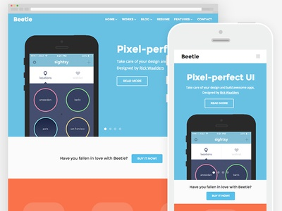 Beetle - HTML5 responsive template