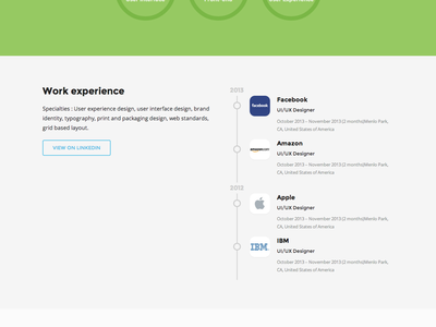 Free Psd - Resume free psd flat beetle resume personal portfolio timeline