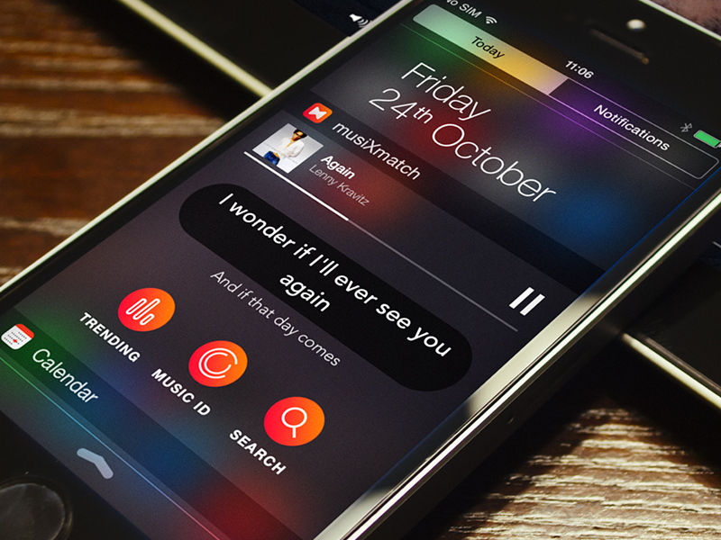 iOS 8 Widget ios8 widget music lyrics iphone6