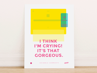 Dribbble Comments Poster dribbble poster illustration ui responsive typography