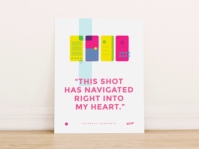 Dribbble Comments Poster ui poster sidebar profile material tabbar graphicdesign dribbble colors