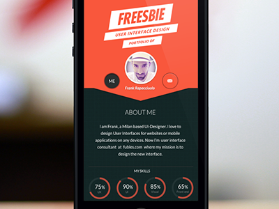 About me - responsive  ui ux responsive mobile webdesign porfolio personal landingpage about infographic diagrams