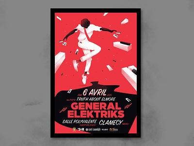 affiche general electrics poster art design music concert poster