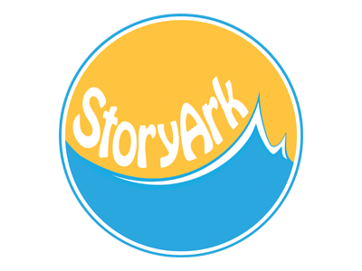 StoryArk Logo warm colors clean simple storyark design logo non-profit