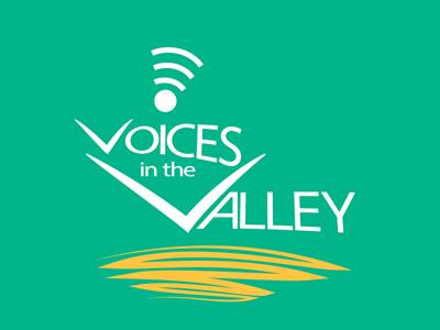 Voices In The Valley V1 voices in the valley clean simple design logo non-profit