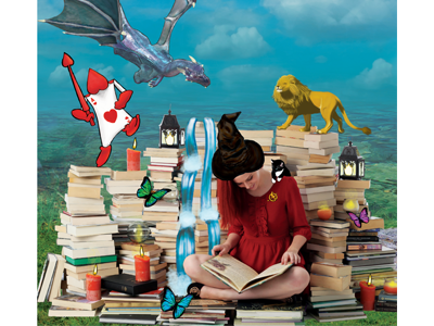 Poster for a Library fantasy reality design poster library