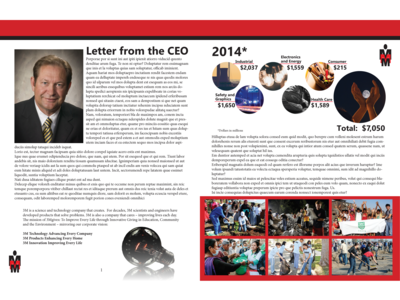 Mock Annual Report - First Spread