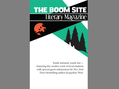 Boom Site Literary Magazine Cover silhouettes layout design vector clean simple design non-profit