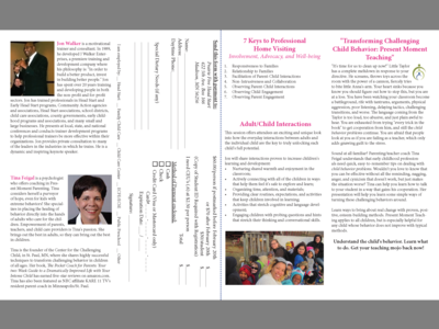 2015 Kids First Conference Brochure - Second Spread