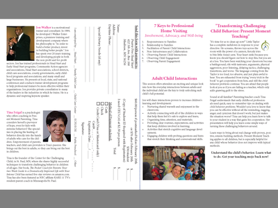 2015 Kids First Conference Brochure - Second Spread brochure design layout design clean simple non-profit design