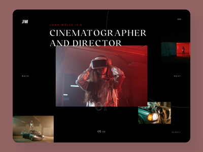 Movie Director Web Design ux ui design movie producer digital agency web designer ux design ui design homepage desktop design web design portfolio website portfolio movie producer director cinematography