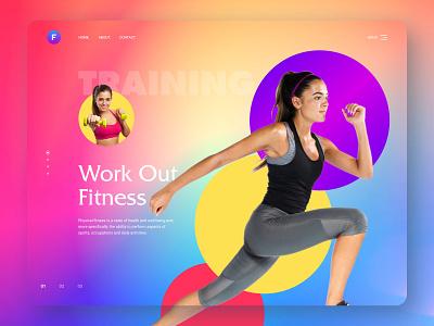Colorful Fitness Website branding inspiration ux ui design website design personal trainer gym training fitness website fitness center fitness club bright color website fitness