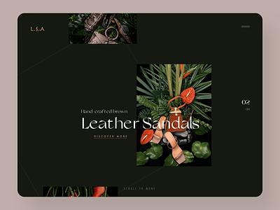 Creative Shopping Homepage Design inspiration website ux ui design ecommerce design website design webdesign animation photography sandals fashion ecommerce homepage design homepage