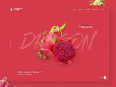 Beautiful and Bold! Website Design branding inspiration website ux ui design fruit homepage design website design web design dragon bold design bright design pink design red design