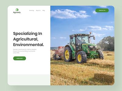 Farming Agricultural Machinery Website webdesign inspiration farmer web designer web design ui design ux agency store ecommerce machinery agriculture green design website farming farm