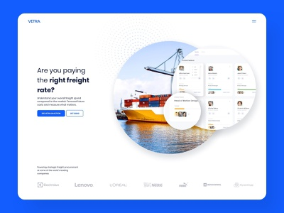 White and Clean Freight Website Design webdesigner website ux ui website ui web design simple design white background rounded clean design clean ui white postage cargo freight forwarding shipping freight