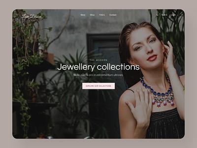 Luxury Jewelry Collections Website Design luxury luxury brand inspiration ux ui shopify website web design design jewelry logo online store ecommerce jewellery jewelery jewelry shop jewelry