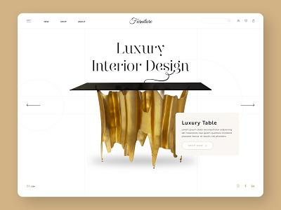 Interior Design Furniture Website ux ui white background white clean design agency inspiration design website designer web design interiors luxury furniture interior design
