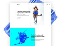 Clean & Stunning Website Design for Music Platform