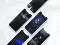 Mobile App Designs for Blockchain Music App