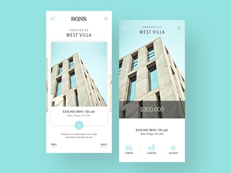 Classy Sophisticated Real Estate App Designs By Luke Peake