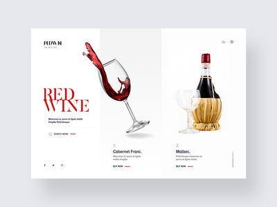 Red, red wine, stay close to me. webdesign alcohol ecommerce wine clean flat website ux ui design