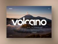 Volcano Information Website Design