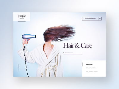 Hair Stylist Website Design designer mobile flat vector animation typography logo responsive clean webdesign inspiration branding web design ux ui design website hair care hair cut hair