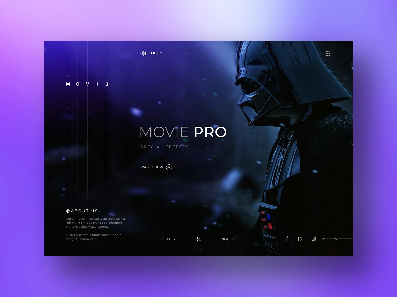 Special Effects Company Website Design typography logo branding webdesign website animation after effects special effects cinema movies movie database inspiration design ux ui