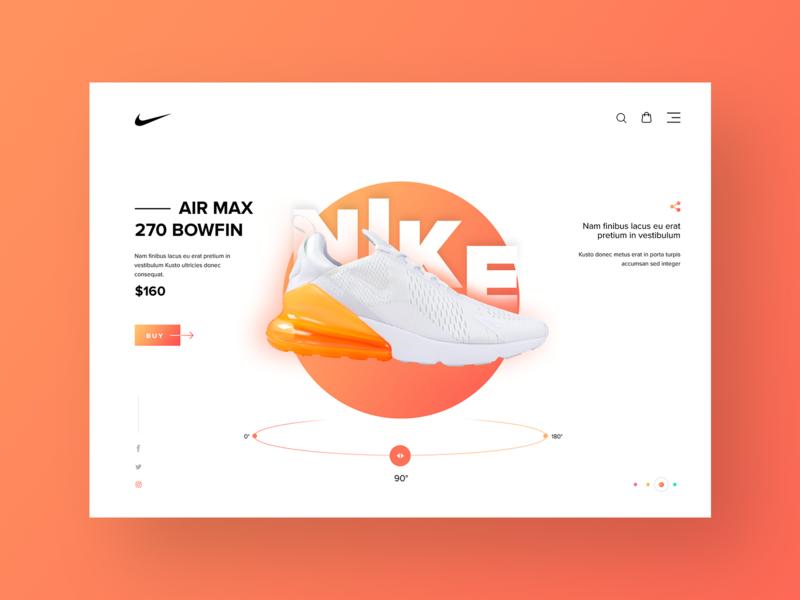 Nike Shoe Product Detail Design typography flat white branding clean inspiration ux ui website webdesign design shopping ecommerce fashion nike running nike air nike shoes shoes nike