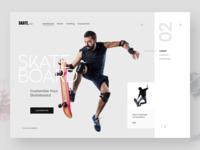 Skateboard Website Design
