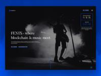 FENIX - Blockchain Music Application Website.
