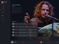 Desktop Music App - with the legend Chris Cornell