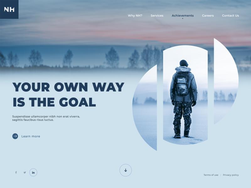 Adventure Style Website Design by Luke Peake for TIB Digital