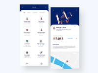Events Organizer Mobile App Design