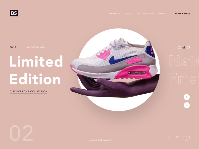 Nike Shoe Fashion Website web designer responsive shopping typography flat clean webdesign branding inspiration website ux ui design nike air ecommerce shoes fashion nike shoes nike