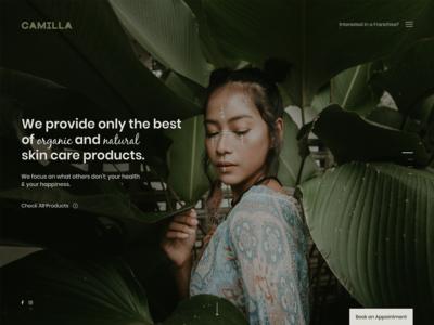 Organic Skincare Brand Website