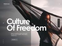 Culture of Freedom - website design