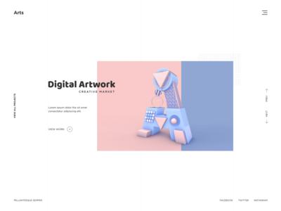 Digital Artwork Website Design