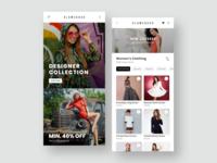Womens Fashion Mobile App Designs